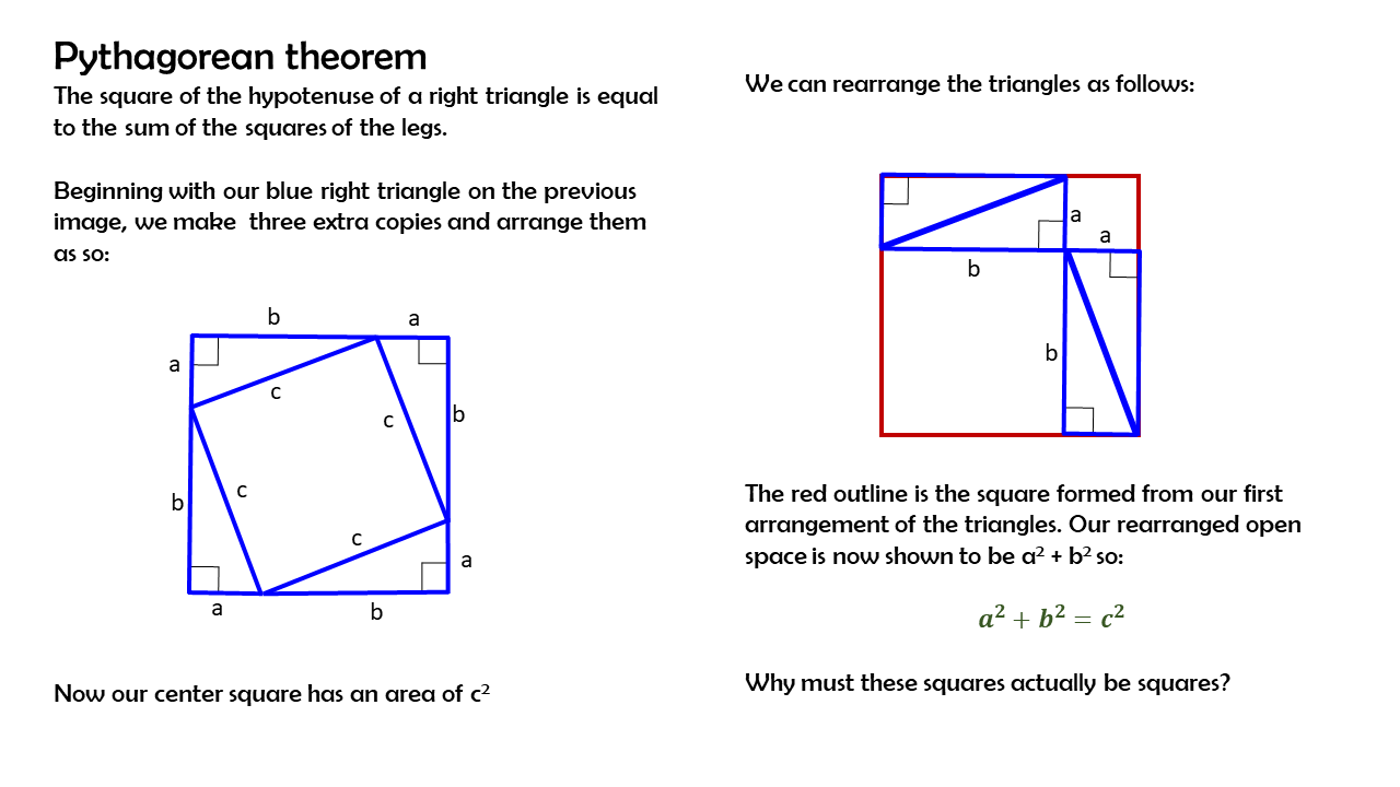 Pythagorean theorem and right triangles - MOORE MATH MADNESS